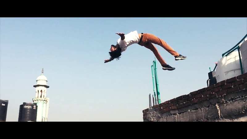 parkour-in-india-bollywood-to-reality-Mujahid-Habib-Pakour